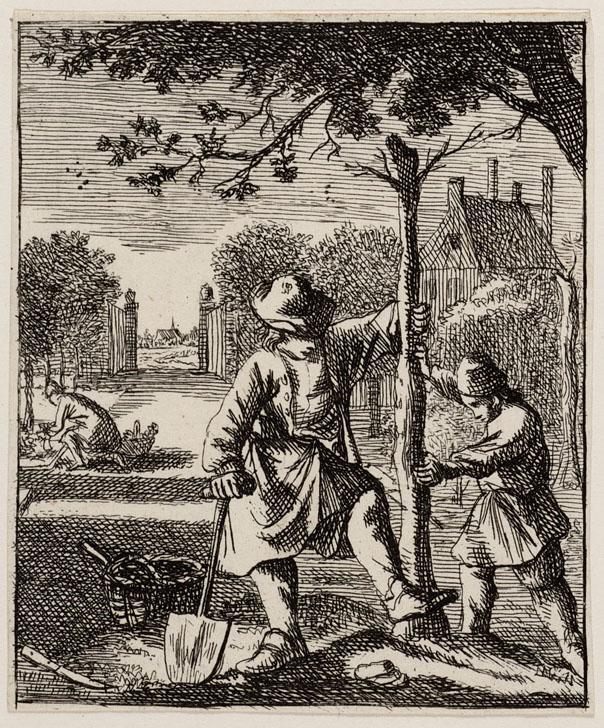 Amsterdams Historisch Museum: A46190 (prent, papier), Boekillustratoren Jan en Casper Luyken 1694